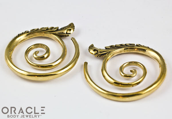 Small Temple Spiral Brass Weights