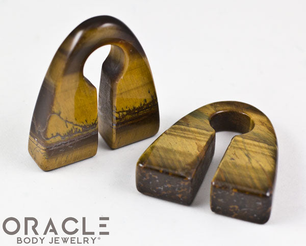 Yellow Tiger Eye Pyramid Weights
