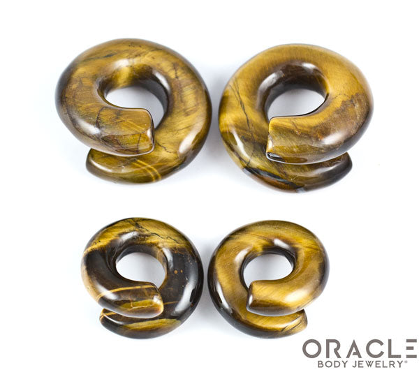 Yellow Tiger Eye Coils