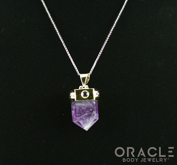 Zuul Pendant with Amethyst Point and Accents