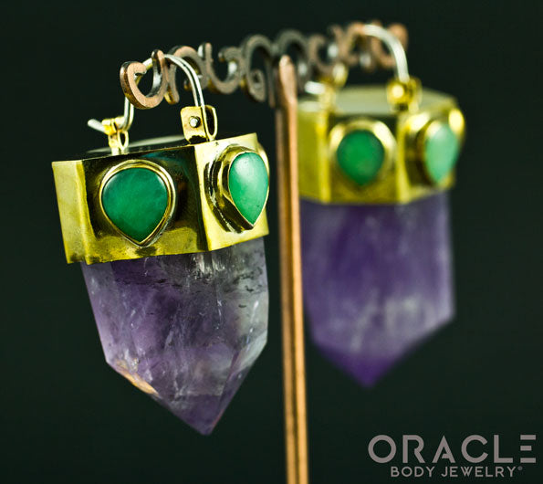 Zuul with Amethyst Points and Chrysoprase Accents