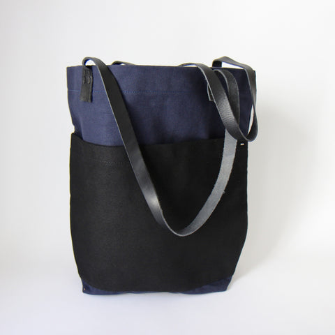 GREI. Two Tone Heavy Canvas Market Bag