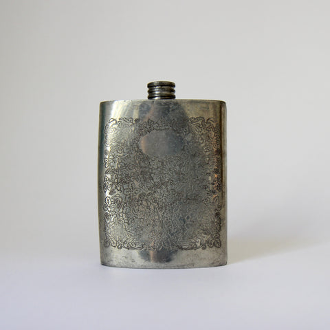 English Pewter Flask