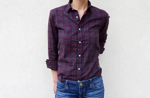 Gitman Sisters Red Archive Tartan Shirt