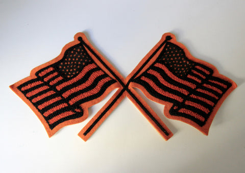 Orange American Flag Patch