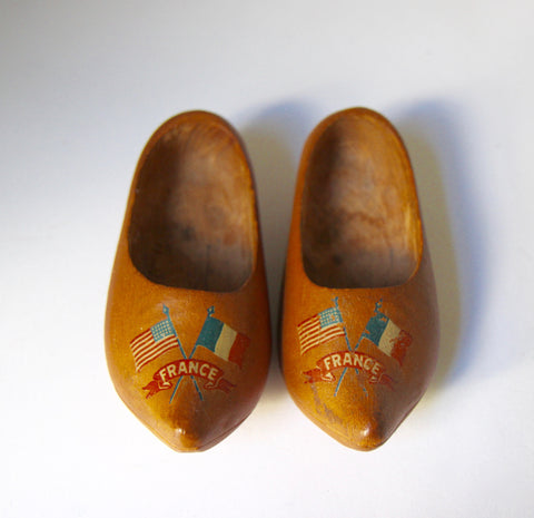 Wooden Souvenir Shoes from France
