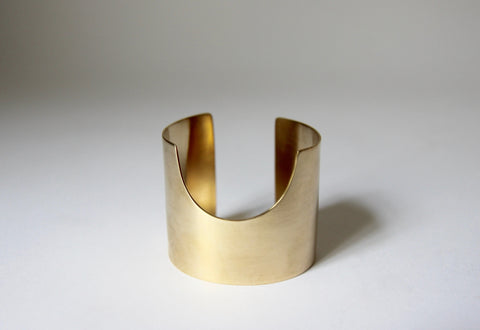Daniela Barone Wide Cuff with Semicircle Cut