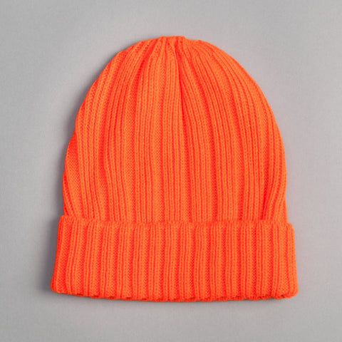 The Hill-Side Knit Cap in Blaze Orange