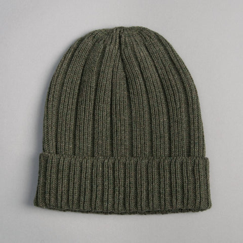 The Hill-Side Irish Wool Knit Cap in Olive