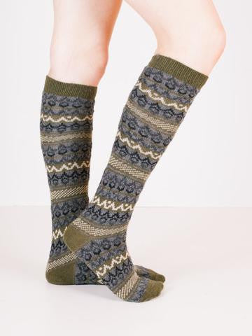 lisa b. knee high fair isle socks