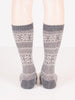 lisa b. snowflake socks