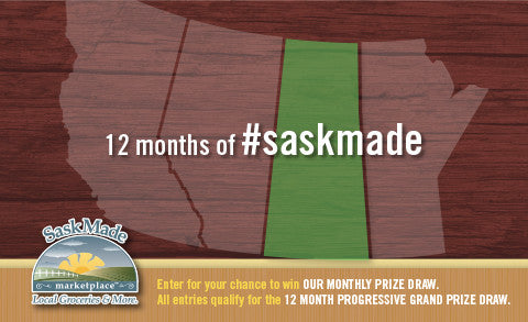 Another month of giveaways! #saskmade