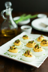 Red Lentil Devilled Eggs