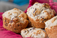 Sour Cherry Breakfast Muffin