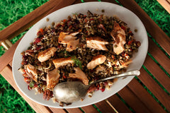 Wild Rice and Lentils with Flaked Trout