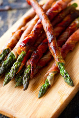 Prosciutto Wrapped Asparagus with Camelina Oil