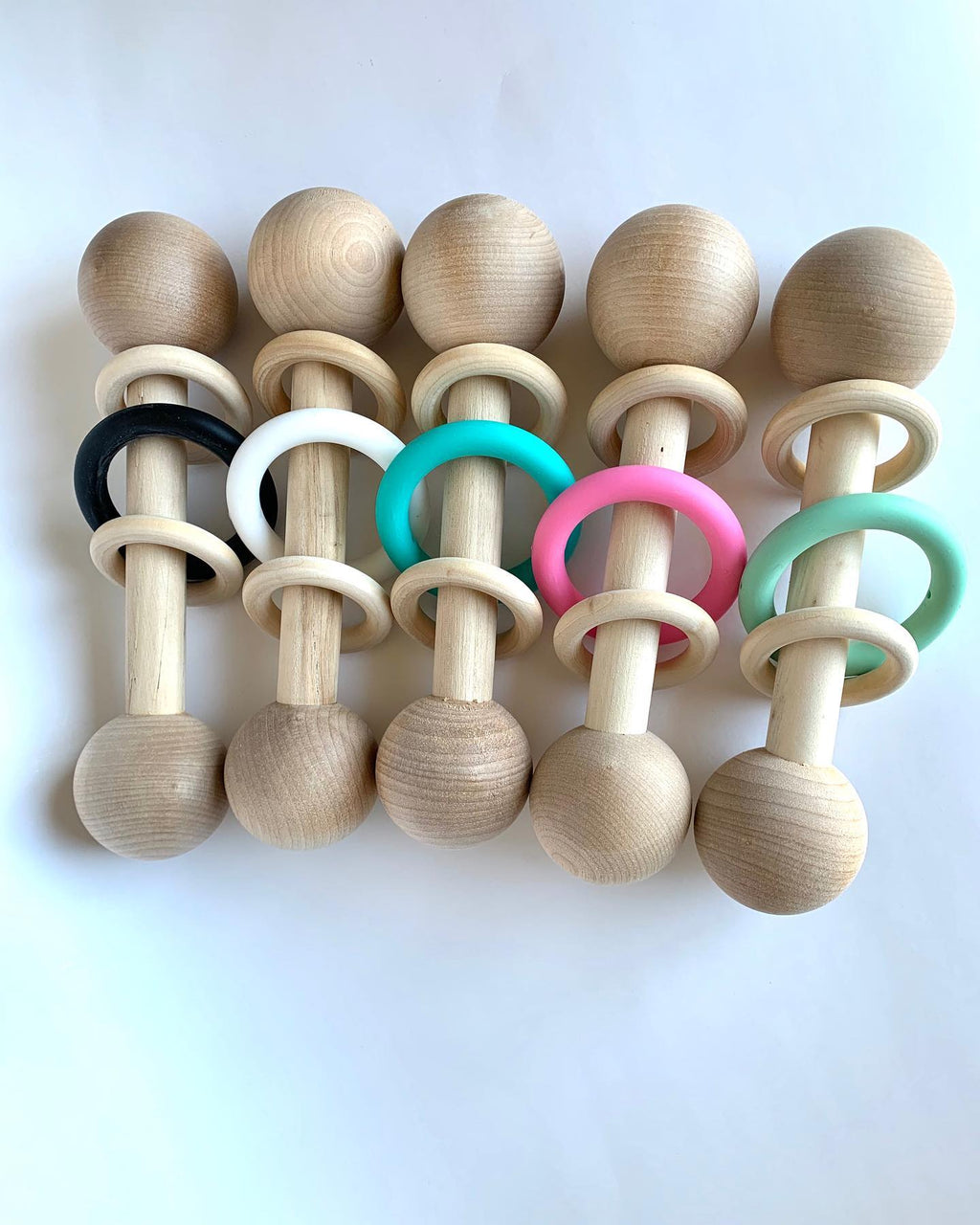 Babe and Beads- Wooden Rattle