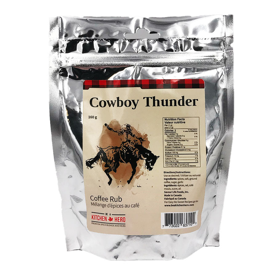 Kitchen Hero - Cowboy Thunder Coffee Rub (160 g)
