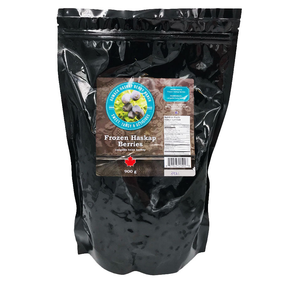 Aumack Haskap Berry Ranch - Frozen Haskap Berries (900 g)