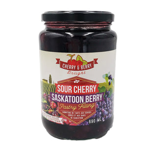Cherry & Berry Delights - Sour Cherry and Saskatoon Berry Pastry Filling (690 ml)