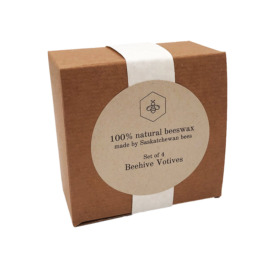 Tu-Bees Gourmet Honey - Beeswax Votive Candles Gift Box (4 Pack)
