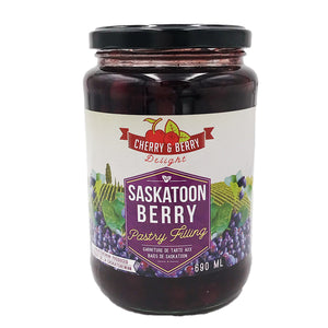 Cherry & Berry Delights - Saskatoon Berry Pastry Filling (690 ml)