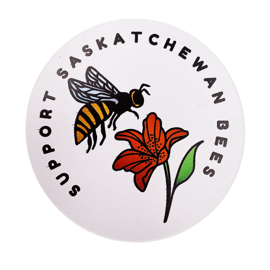 Sunnybee Creations - Support Saskatchewan Bees Magnet