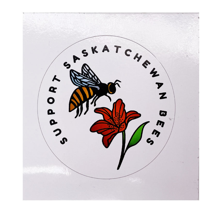Sunnybee Creations - Support Saskatchewan Bees Sticker