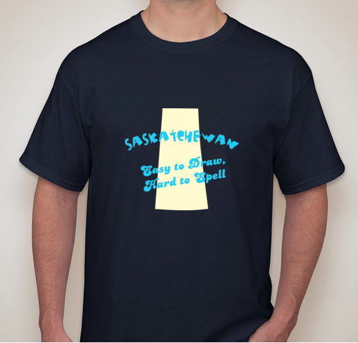 Bold Clothes - Saskatchewan Easy to Draw, Hard to Spell T-Shirt