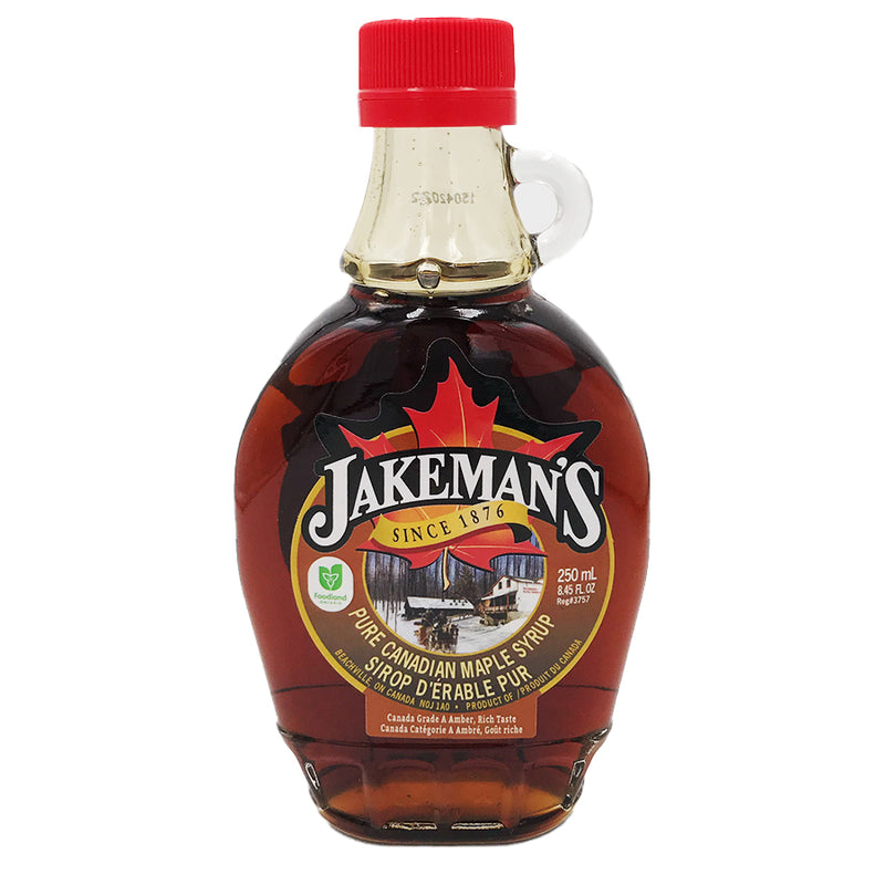 Jakeman's Maple Products - Pure Canadian Maple Syrup Glass Bottle (500 ml)