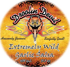 Droolin' Devil Fine Foods - Hot Sauce: Extremely Wild Garlic Salsa