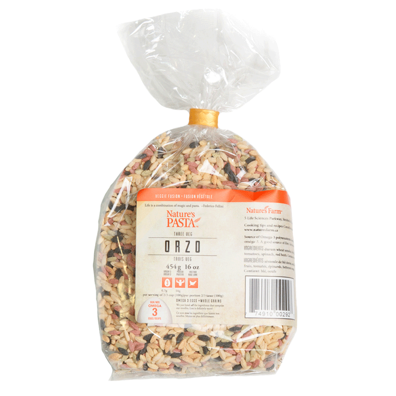 Nature's Farm - 4 Vegetable Orzo (454g)