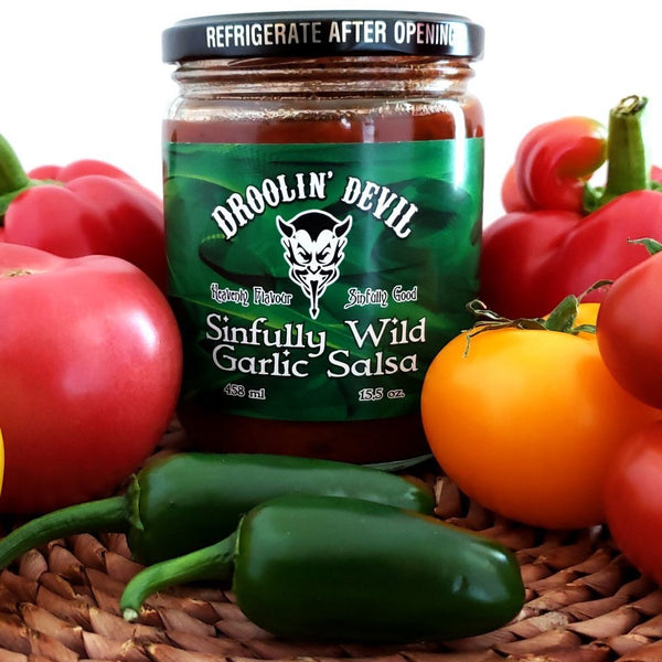 Droolin' Devil Fine Foods - Hot Sauce: Sinfully Wild Garlic Salsa