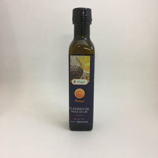 Alligga - Flaxseed Oil: Orange Flavour (250 mL)