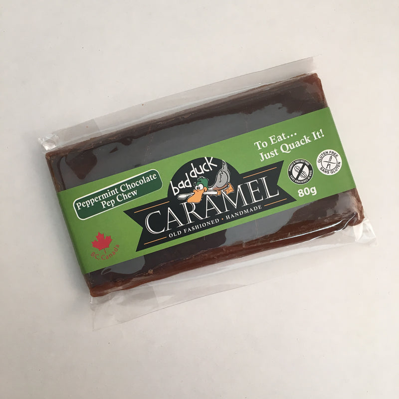 Bad Duck Caramel - Old Fashioned Caramel: Peppermint Chocolate Pep Chew (80g)