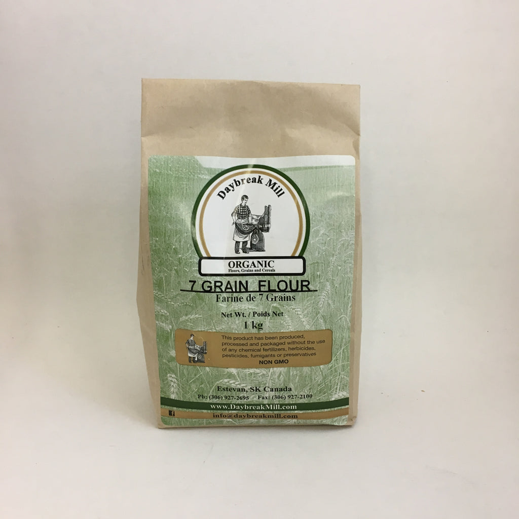 Daybreak Mill - Organic Stoneground Flour: 7 Grain (1 kg)