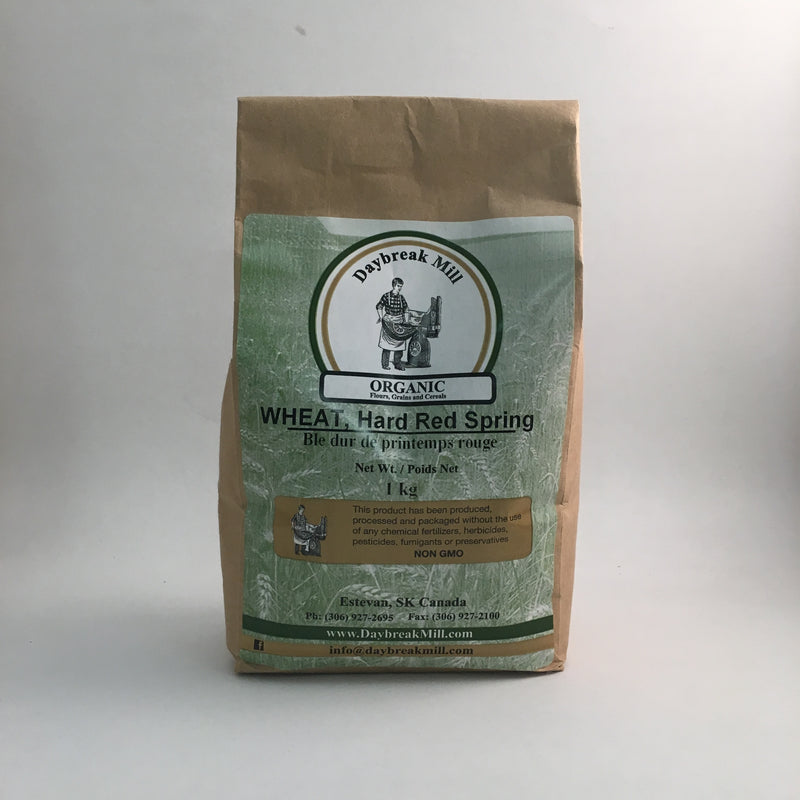 Daybreak Mill - Organic Whole Grain: Hard Red Spring Wheat (1 kg)