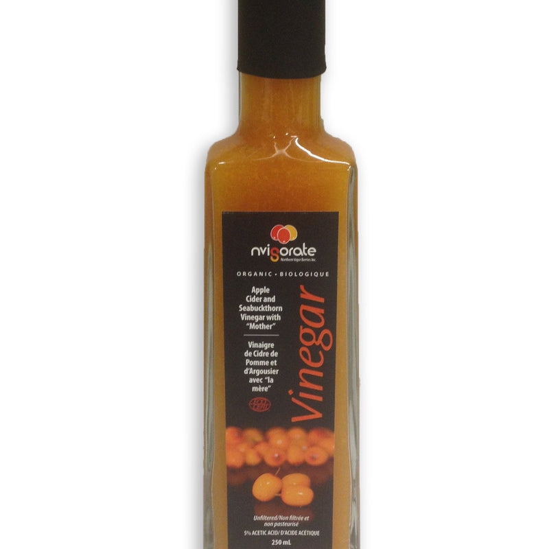 Northern Vigor Berries - Organic Seabuckthorn Cider Vinegar (250 mL)