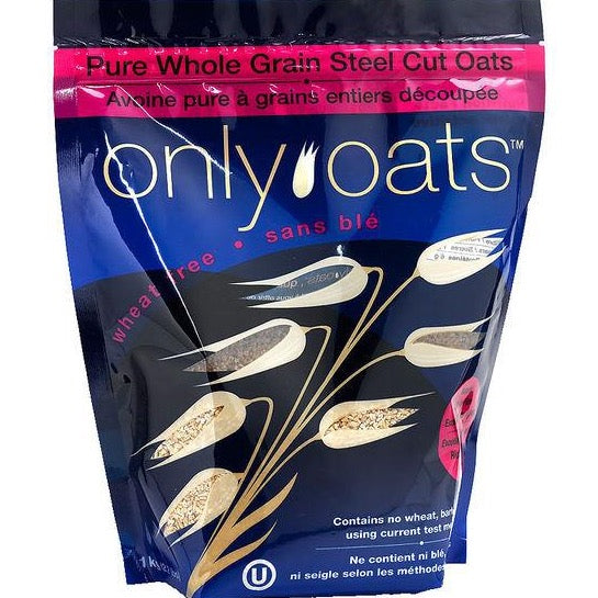 Only Oats - Pure Whole Grain Steel Cut Oats (1kg)