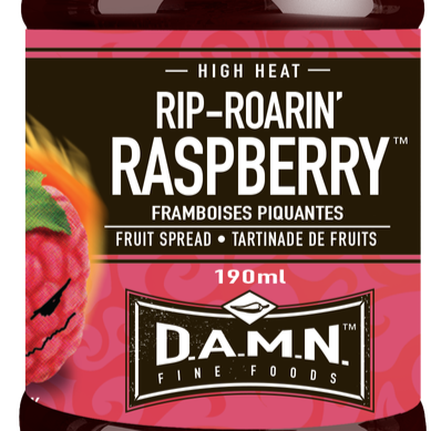 D.A.M.N. Fine Foods - Spicy Fruit Spread: Rip Roarin' Raspberry  (190 ml)