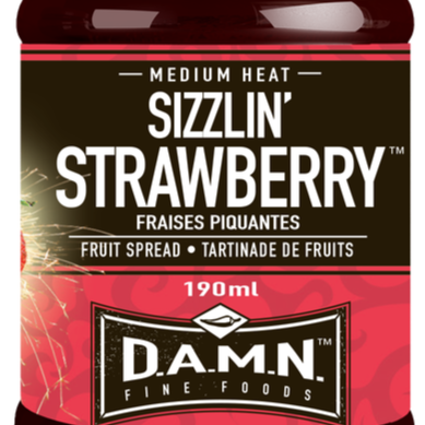 D.A.M.N. Fine Foods - Spicy Fruit Spread Sizzlin' Strawberry (190 ml)
