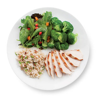 healthy dinner plate