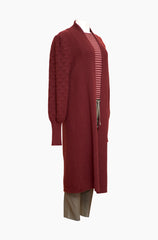 YIMY x MANÚ - Long coat puffy sleeves 100% Cashmere