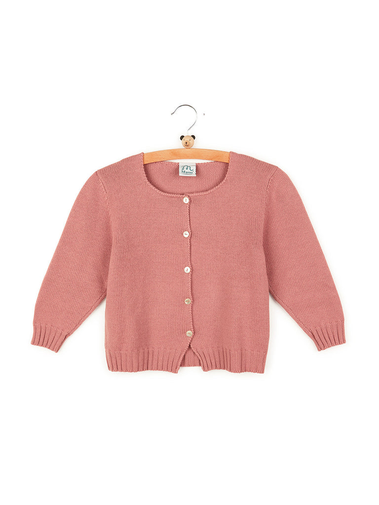 Lorea - Children Cardigan With Hand Crochet Details