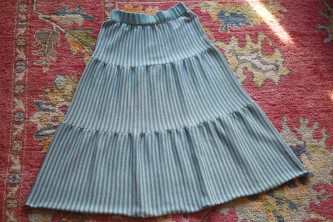 YIMY x MANÚ - Long skirt with stripes 100% Cotton