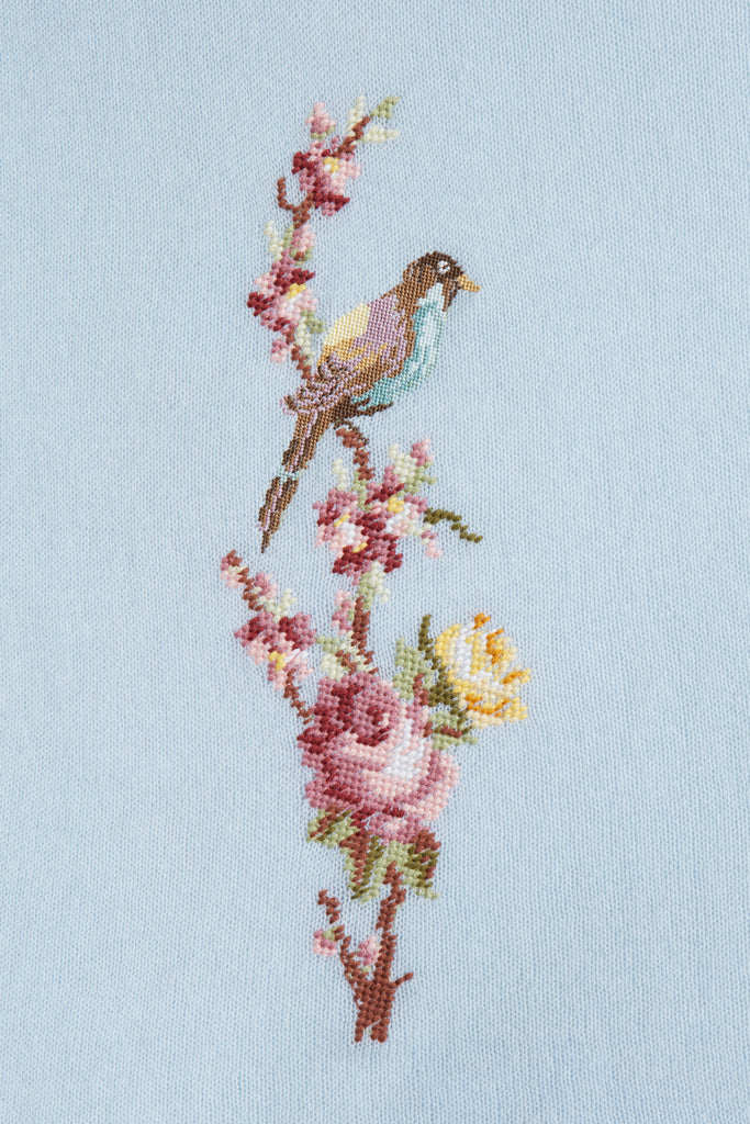 Little Bird -Embroidered Shawl