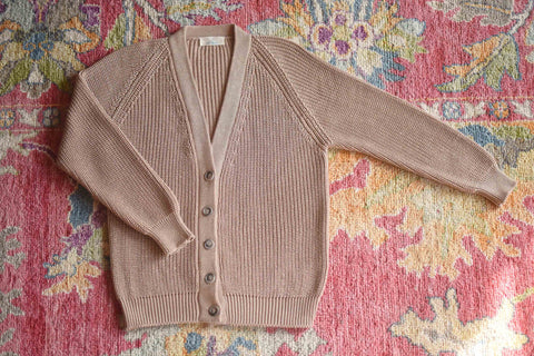 YIMY x MANÚ- Matilda ribbed cardigan classic fit 100% Cotton