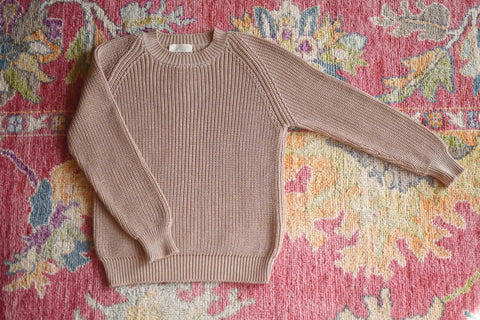 YIMY x MANÚ- Matilda ribbed crewneck long sleeves 100%Cotton