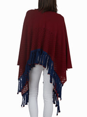 Nina - Poncho with Fringes