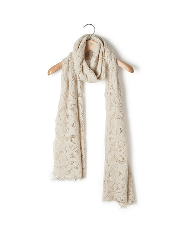 Pizzo Fiori - Shawl Cashmere Lace Flowers